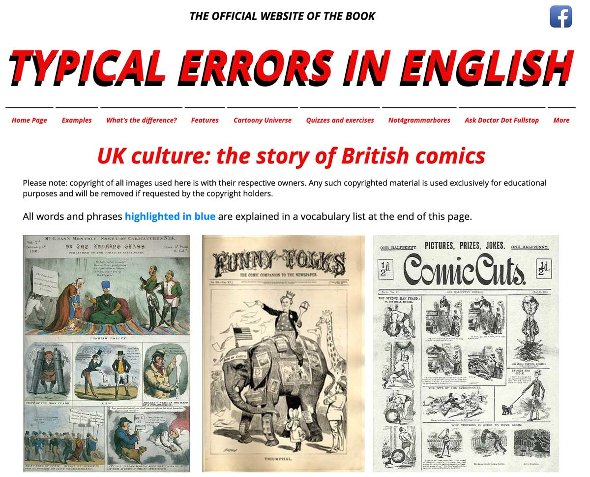 Typical Errors in English - Site