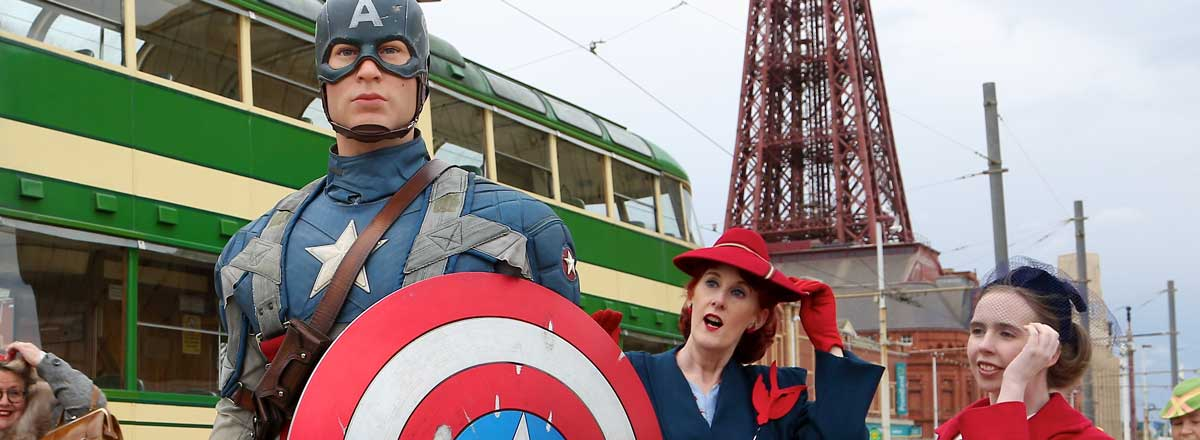 Captain America arrives in Blackpool. Image: Madame Tussauds Blackpool