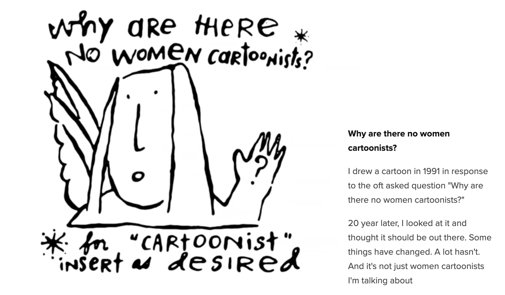 Why are there no women cartoonists? by Cinders McLeod