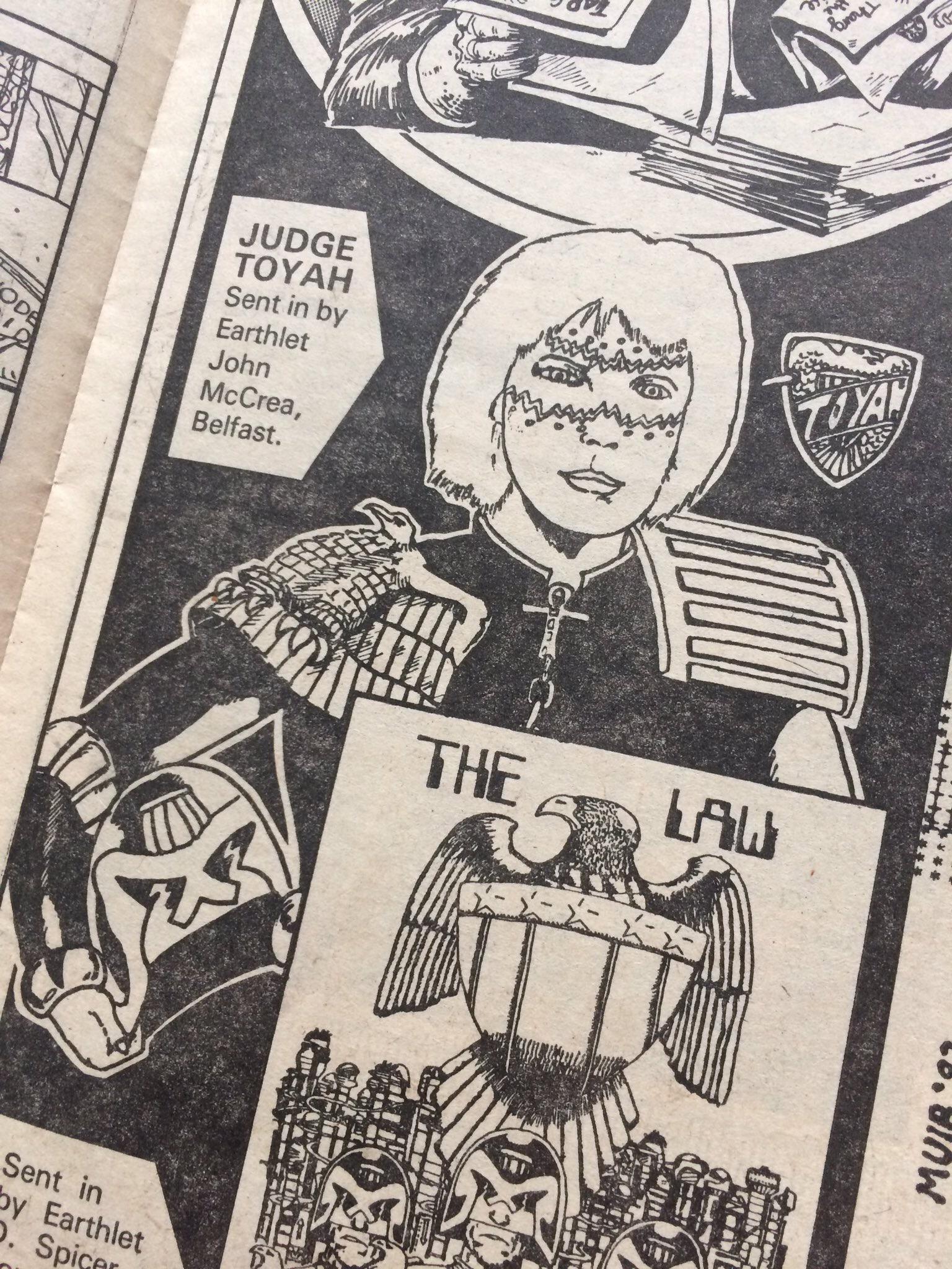 """2000AD Prog 310 - """"Judge Toyah"""", by reader John McCrea"""