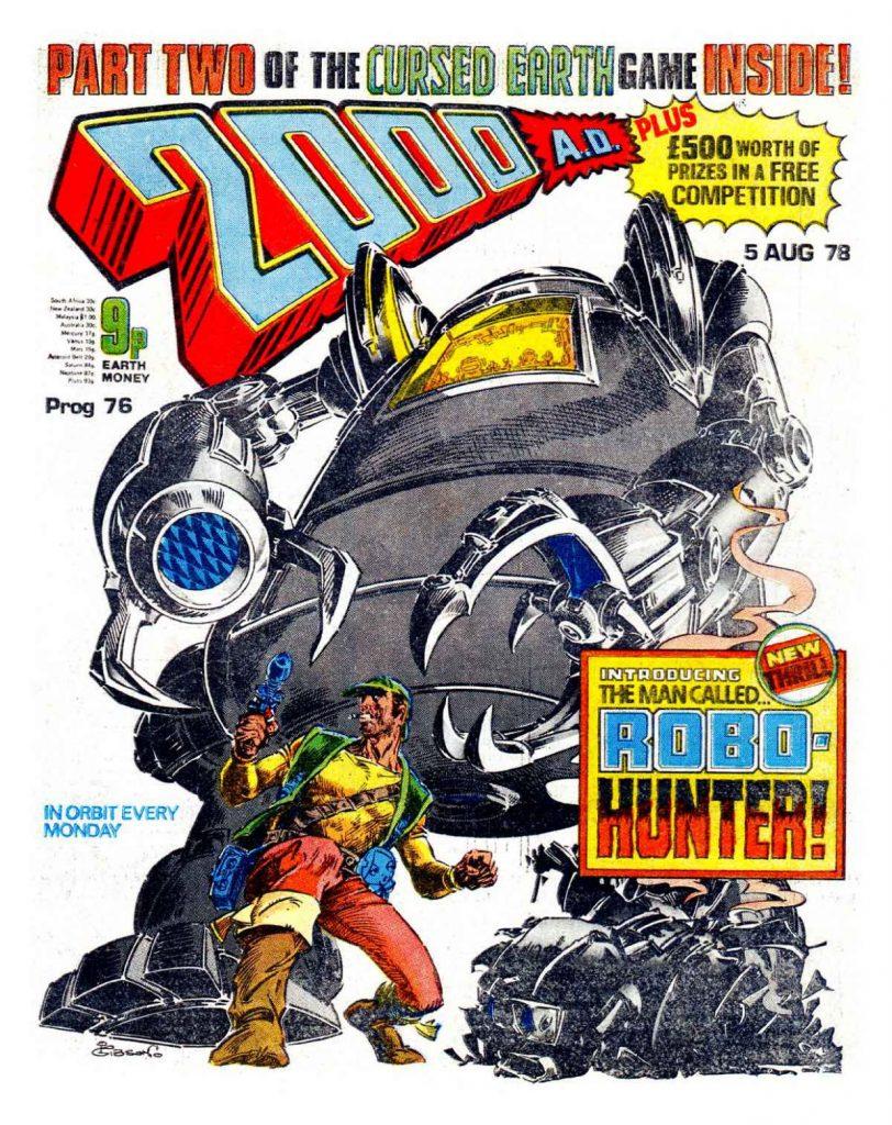 2000AD Prog 76 Cover - Robo-Hunter by Ian Gibson