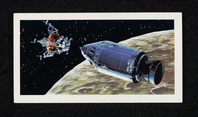 Race into Space Brooke Bond Card - Apollo 11 Mission - Columbia and Eagle