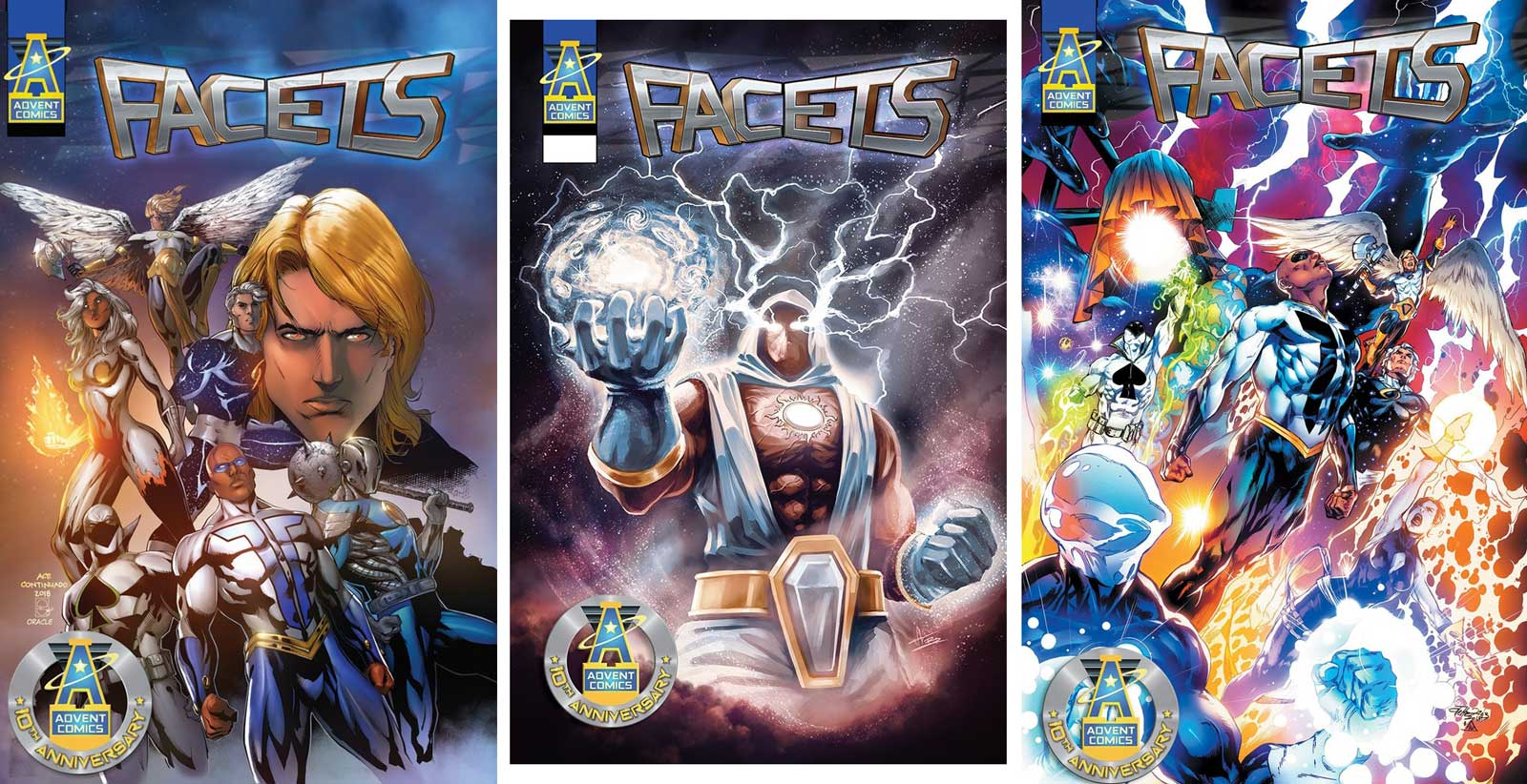 Facets will offer multiple covers including an Andy Smith Variant Spot UV Hardcover, a Netho Diaz Metal Cover and a Limited Trinity Extended Edition