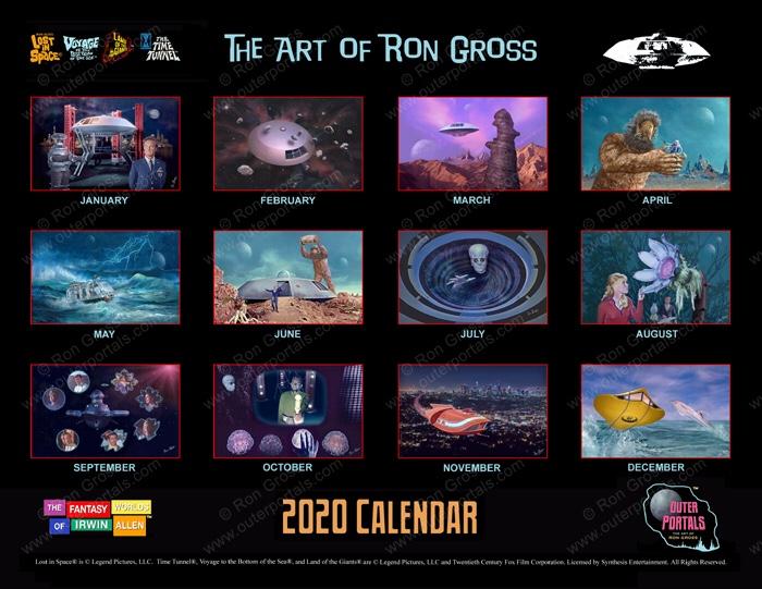 The Fantasy Worlds of Irwin Allen - 2020 Calendar by Ron Gross