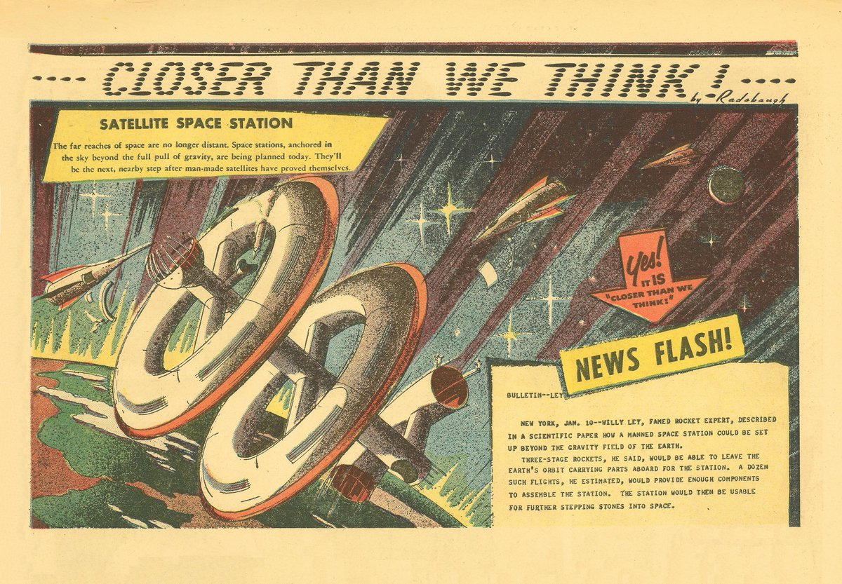 "The first ever ""Closer Than We Think!"" by Arthur Radebaugh, published in January 1958"
