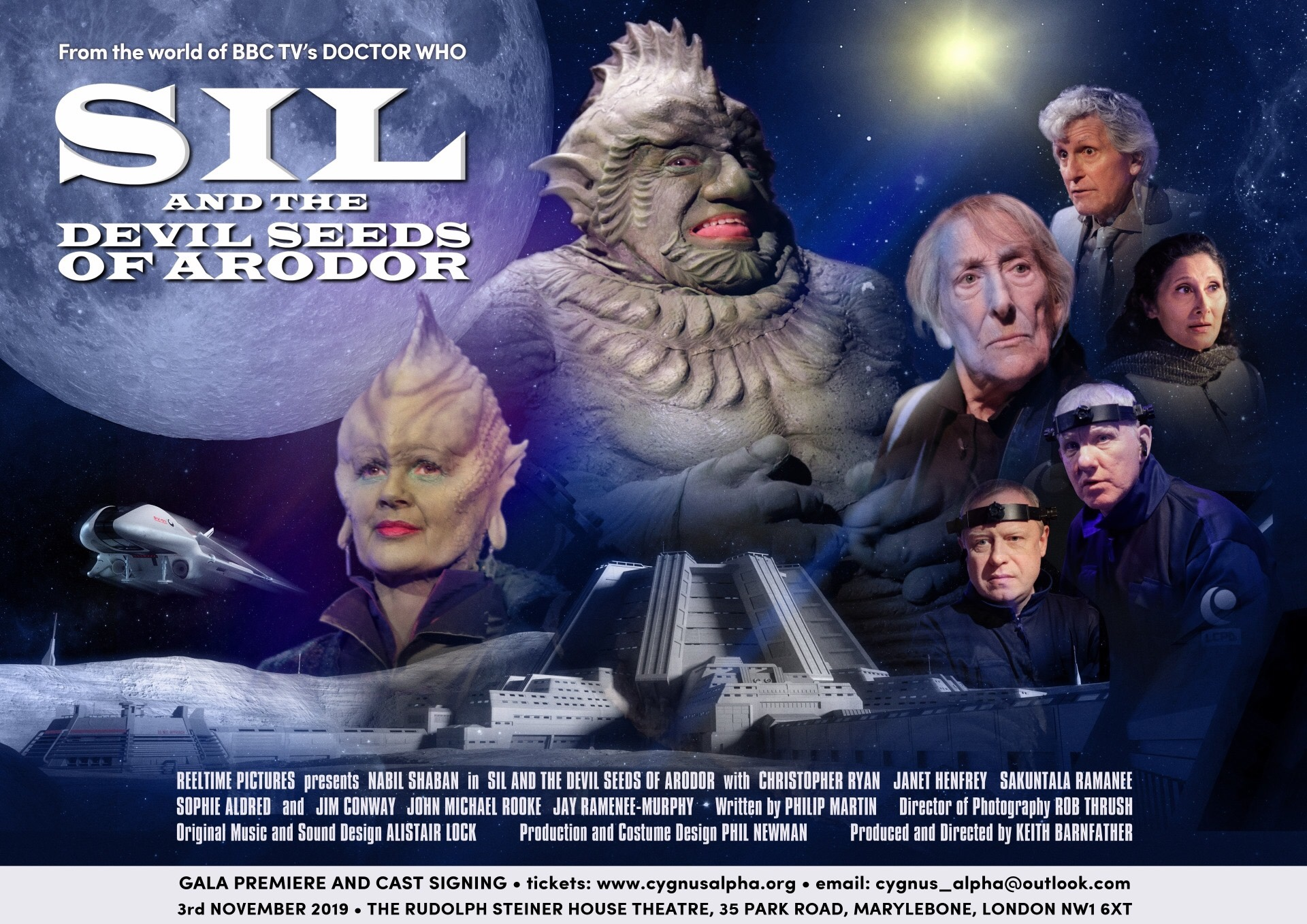 The cast of Sil and the Devil Seeds of Arodor - Poster