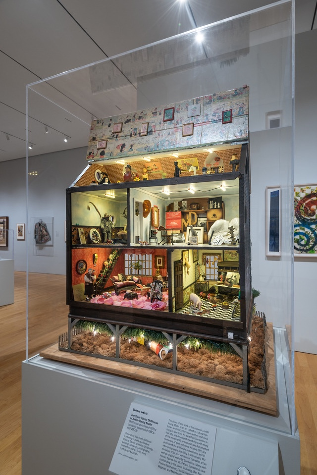 """""""The Stein-Toklas Dollhouse of Judith Young-Mallin,"""" dollhouse purchased 1970s; contents assembled 1980s–mid-2000s"""