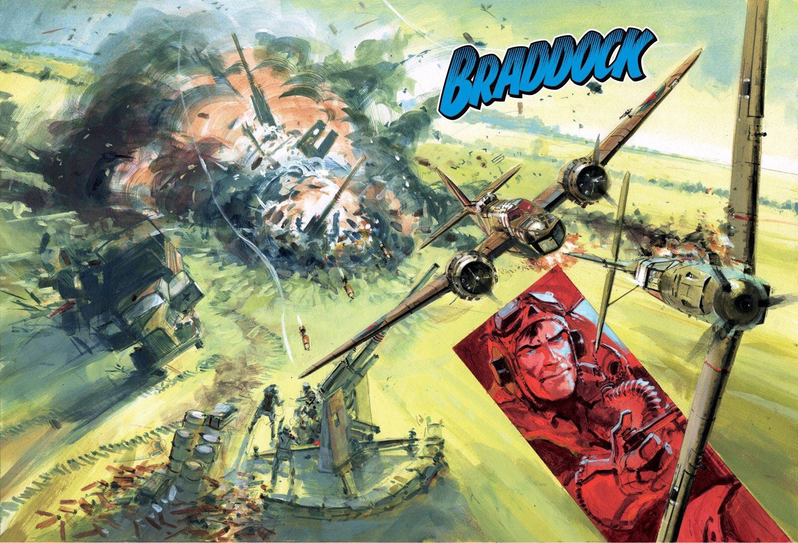 "Commando Issue 5259 - the wraparound ""Braddock"" cover by Keith Burns"