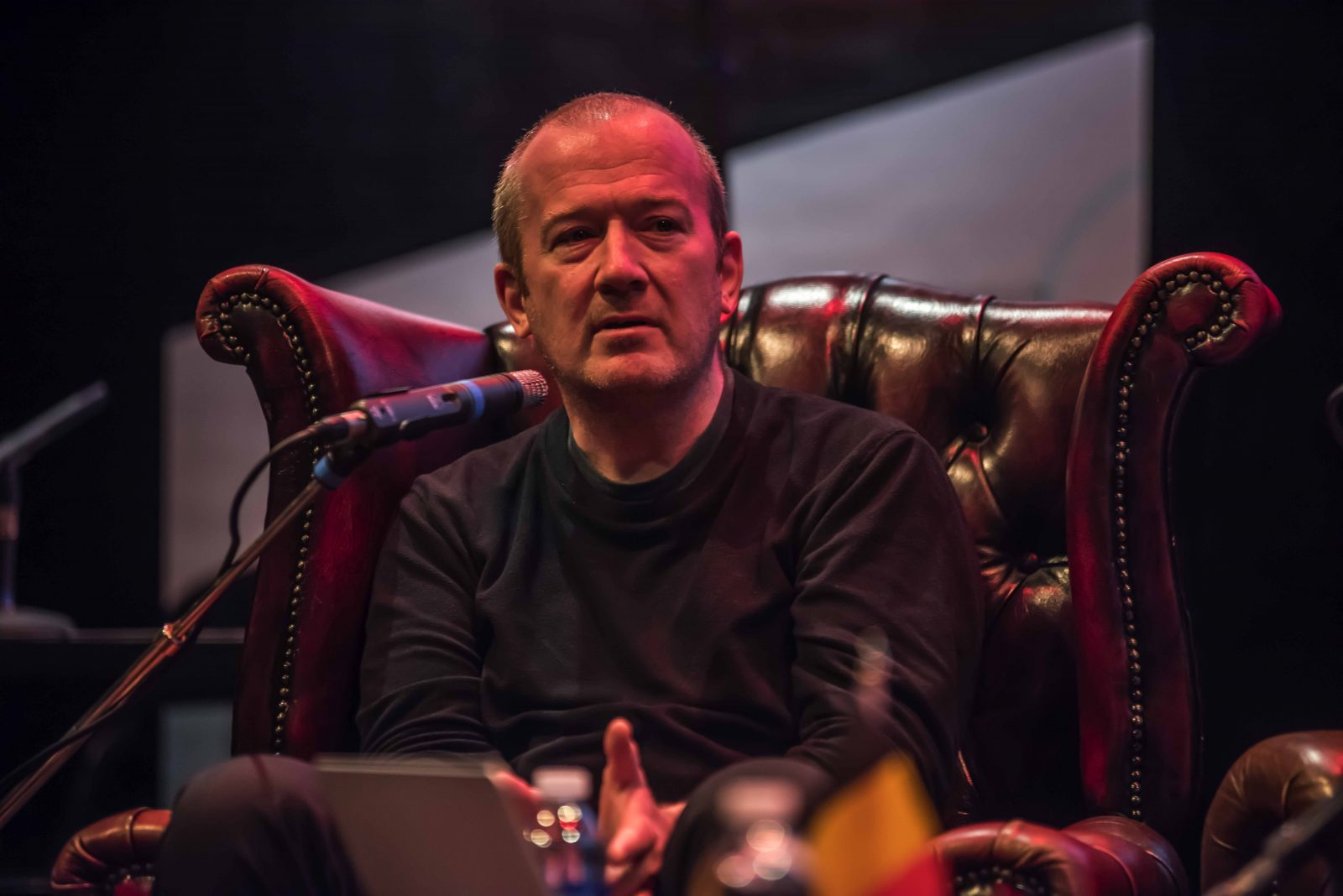 Writer Garth Ennis at the Lakes International Comic Art Festival 2019. Photo: Chris Payne for LICAF