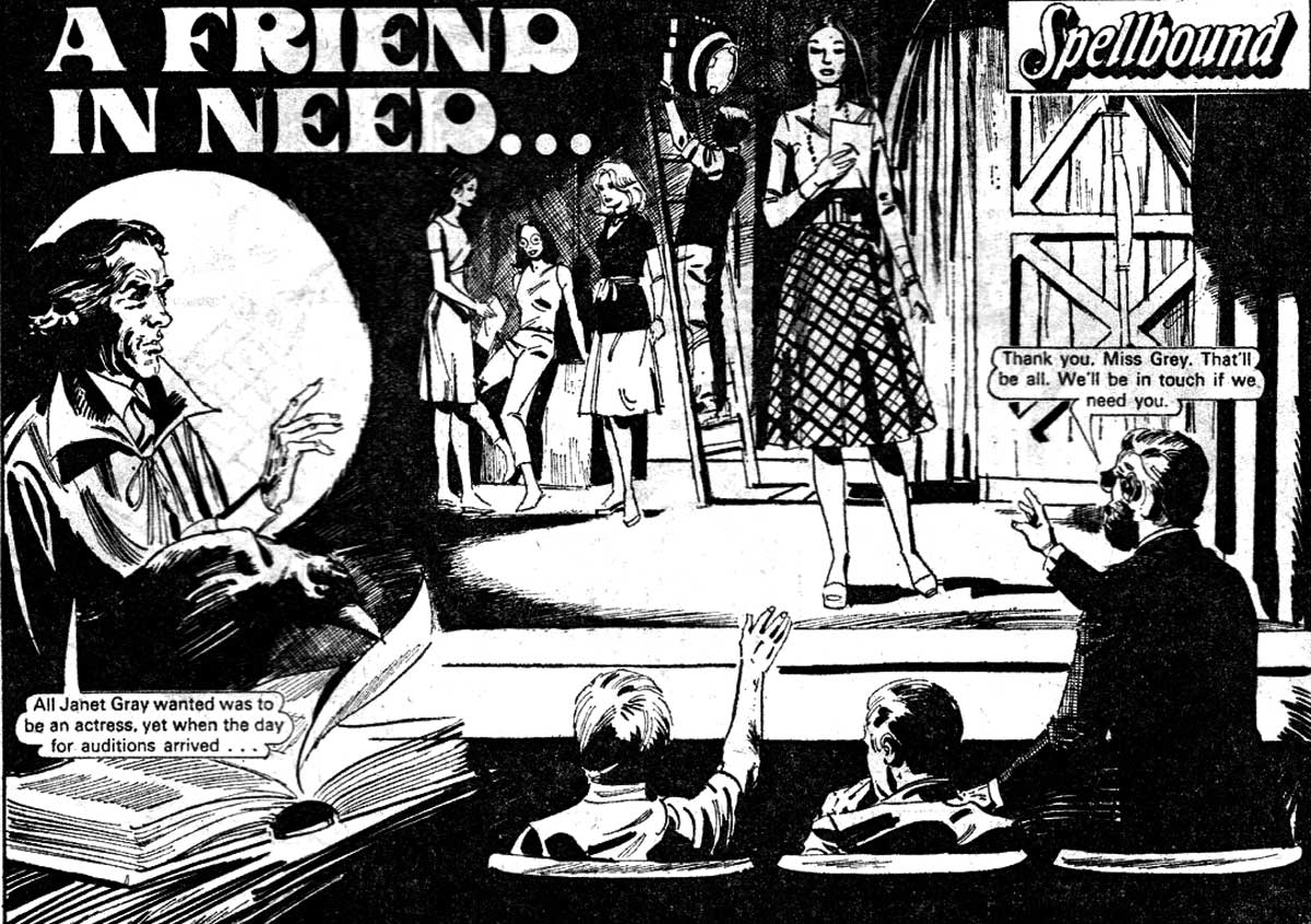 "The Damian Darke story ""A Friend in Need"", from Debbie 271, featuring art now known to be by Argentinian artist Luis Garcia Duran © DC Thomson"