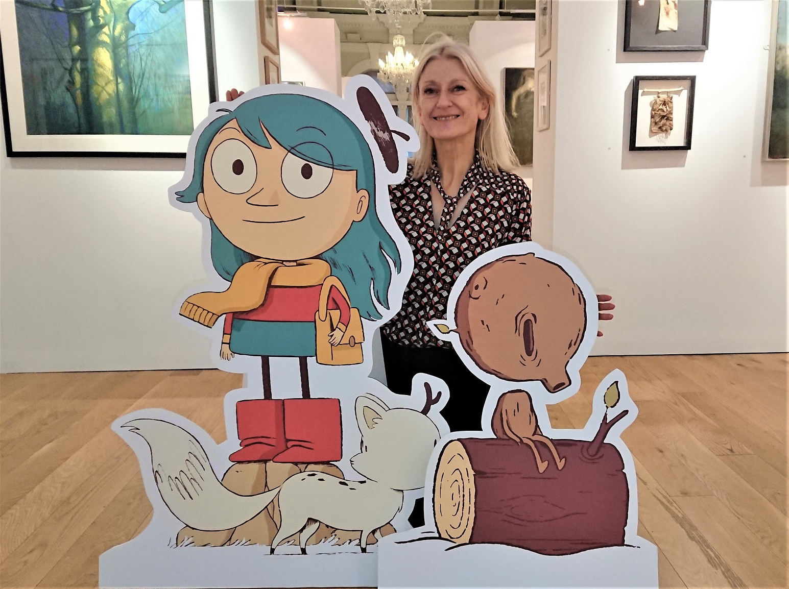 Karen Southworth, curator of the Mercer Gallery, with Hilda