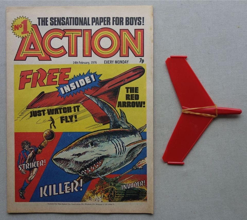 Action Issue 1, cover dated 14th February 1976 - with free gift