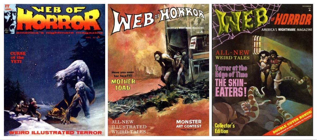 "Webfind: Michael Kaluta's unpublished strip for ""Web of Horror "" - America's nightmare magazine!"
