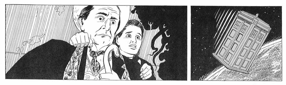 """The final inks for the opening episode of """"Doctor Who - Terror from the Deep"""""""