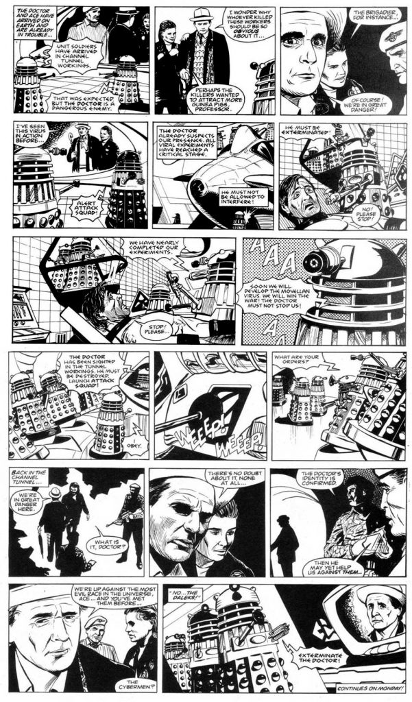"""""""Doctor Who - Terror from the Deep"""" - Lettered"""